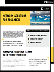 Reduce inefficiency in the classroom with SCE Carrier Solutions' network services.